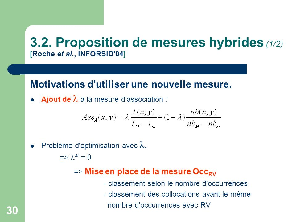 3.2. Proposition de mesures hybrides (1/2) [Roche et al., INFORSID 04]